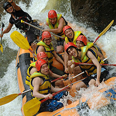 White Water Rafting is perfect for groups in Cairns