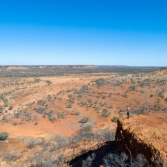 Aerail view of Winton landscape in outback Queensland Australia