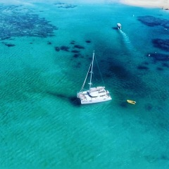 Yacht Charter Port Douglas - Aerial View Luxury Yacht