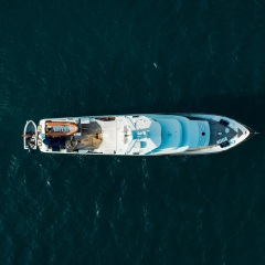 Yacht Charters Great Barrier Reef - Port Douglas - Aerial View Superyacht