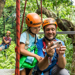 Ziplining Tour Guests Checking Out Their Photos - Daintree Cape Tribulation Ziplining Tour